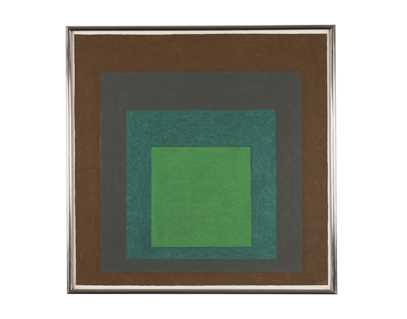 Kunstwerk von Josef  Albers: Study for Hommage to the Square: Respondence, 1963